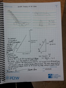A page from Team A's engineering notebook.